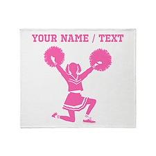 Pink Cheerleader (Custom) Throw Blanket