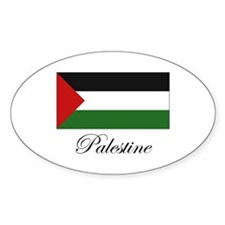 Palestine - Palestinian Flag Oval Decal