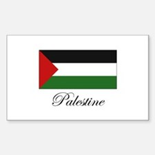Palestine - Palestinian Flag Rectangle Decal