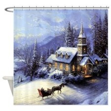 Funny Winter designs Shower Curtain
