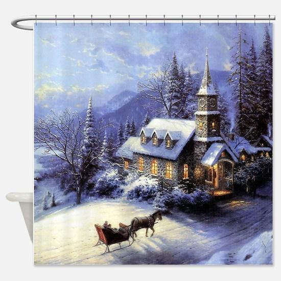 Unique Christmas tree Shower Curtain