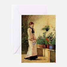 Homer - Girl Watering Plants Greeting Card