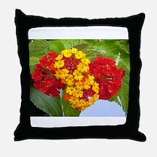 Red And Yellow Lantana #2 Throw Pillow