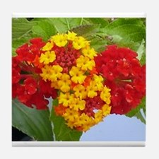 Red And Yellow Lantana #2 Tile Coaster