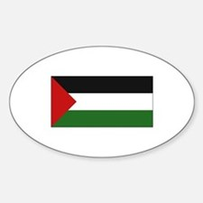Palestinian Flag - Palestine Oval Decal