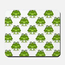 Cute Happy Frog Pattern Mousepad