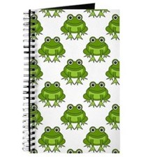 Cute Happy Frog Pattern Journal