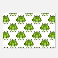 Cute Happy Frog Pattern Postcards (Package of 8)