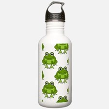 Cute Happy Frog Patter Water Bottle