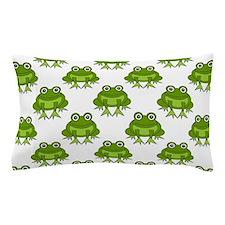 Cute Happy Frog Pattern Pillow Case