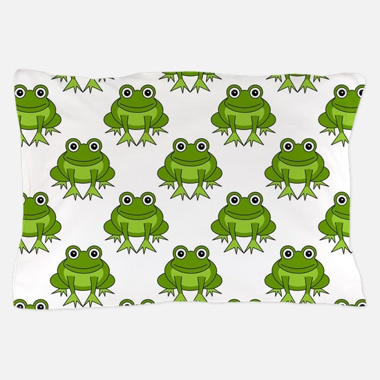 Cute Happy Frog Pattern Pillow Case