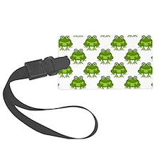 Cute Happy Frog Pattern Luggage Tag