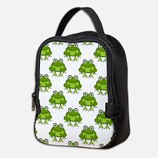 Cute Happy Frog Pattern Neoprene Lunch Bag