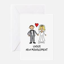 Under New Management - Wedding Humor Greeting Card
