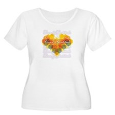 Love & Gratitude Women's Plus Size Scoop T-Shirt
