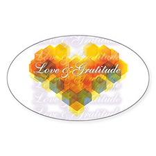 Love & Gratitude Oval Decal