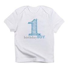 First Modern Birthday BLUE Infant T-Shirt