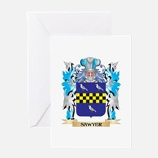 Sawyer Coat of Arms - Family Crest Greeting Cards