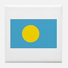 Palau Flag Tile Coaster