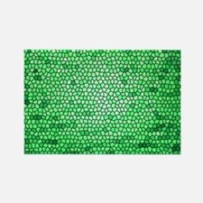 Green color stained glass pattern Rectangle Magnet