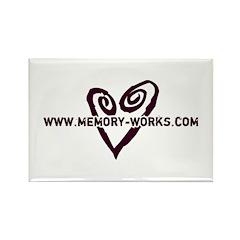 MW Heart Logo Rectangle Magnet (10 pack)