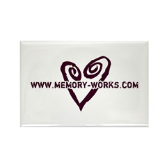 MW Heart Logo Rectangle Magnet
