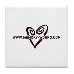 MW Heart Logo Tile Coaster