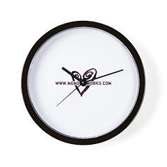 MW Heart Logo Wall Clock