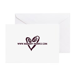 MW Heart Logo Greeting Cards (Pk of 10)
