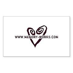 MW Heart Logo Rectangle Decal