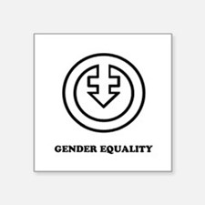 Gender Equality (outline version) Sticker