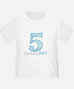 Fifth Modern Birthday BLUE T-Shirt