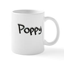 POPPY chisel font GB Mugs
