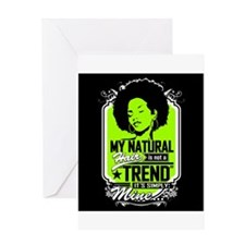 Natural Not Trend (Neon) Greeting Cards