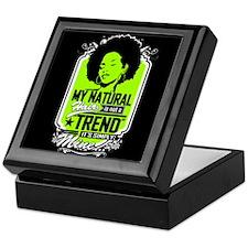 Natural Not Trend (neon) Keepsake Box