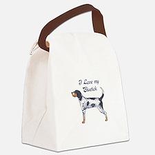 I LOVE BLUETICK Canvas Lunch Bag
