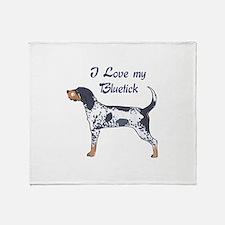 I LOVE BLUETICK Throw Blanket