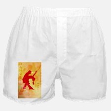 Dancing couple on a soft background Boxer Shorts