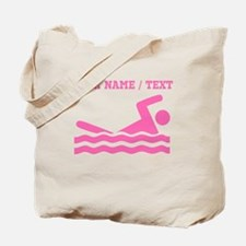 Pink Swimmer (Custom) Tote Bag