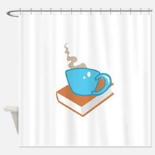 HOT COFFEE ON BOOK Shower Curtain
