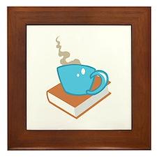 HOT COFFEE ON BOOK Framed Tile