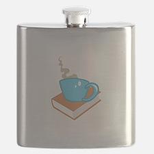 HOT COFFEE ON BOOK Flask