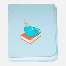 HOT COFFEE ON BOOK baby blanket