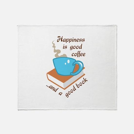 GOOD COFFEE GOOD BOOK Throw Blanket