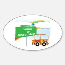 Come to Woodstock Logo Decal