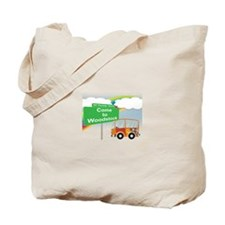 Come to Woodstock Logo Tote Bag