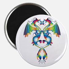 "Rainbow Love Dragons 2.25"" Magnet (10 pack)"