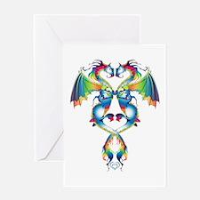 Rainbow Love Dragons Greeting Card
