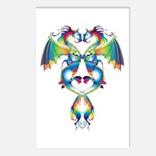 Rainbow Love Dragons Postcards (Package of 8)