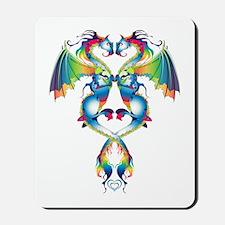 Rainbow Love Dragons Mousepad